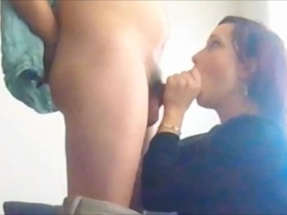 RedHead MILF Blowjob with Cum Swallow