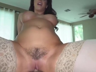 busty mother catches panty sniffing son and takes anal pounding