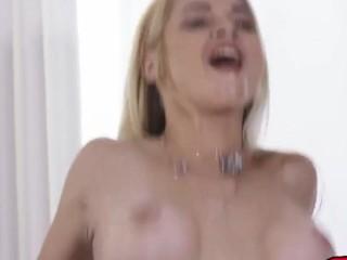 busty blonde milf sarah vandella enjoys bbc and eats cum