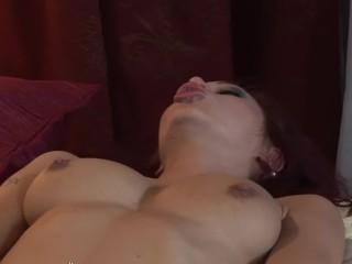 Sexy nympho Kristine licks, sucks & fucks Lola's scrumptious feet & ft