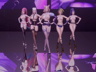[MMD] Okay/DA – The Baddest five Women Ver Ahri Akali Evelynn Kaisa Seraphine Nude Dance Uncensored 3-D