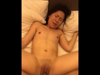 Thai Thin Small Guide Whore KATE Enjoys Large Overseas Dick in Bangkok