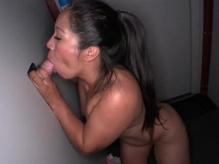 Gloryhole Fuckfest with Two HOT Latinas