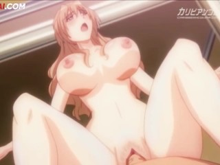 Giant titties lesbian fucked via a tender boy | Hentai Uncensored