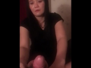 Within the therapeutic massage parlor talkative thai lady and younger asian boy hadnjob