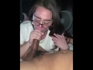 Arizona slut gobbling black cock