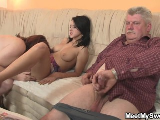 His gf will get seduced by way of granny and previous step-dad