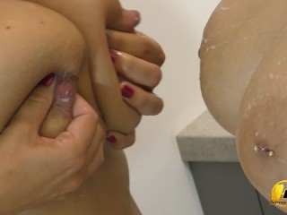 Milking to Angel Wicky mouth and boobs Katerina Hartlova