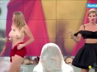 Spanish TV Host Strips Off (Maria Lapiedra)