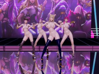 [MMD] GirlsDay – One thing Nude Vers. Ahri Akali Evelynn Kaisa three-D Uncensored Nude Dance