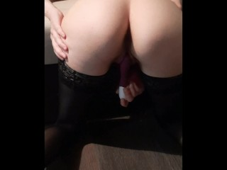 masturbating pup taste in stockings with a vibrator – Strapon Remedy