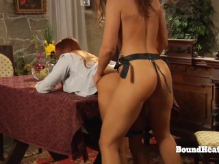 Sexy Lesbian Madame Takes Large Strapon From In the back of By way of Slave