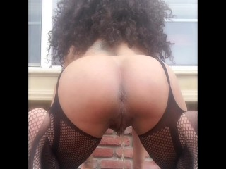 She Pisses Outdoor For The Neighbor With Her Very best Ass