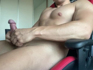 CUM DRIPPING ALL OVER MY HUGE COCK