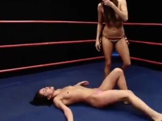 Celeste vs alyssa wrestling