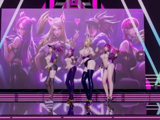 [MMD] GirlsDay – One thing StripVers. Ahri Akali Evelynn Kaisa 3-D Uncensored Nude Dance