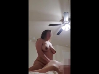 Giant Mommy Cowgirl Using and cumming