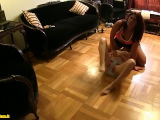 Lesbian catfight facesitting smother domination