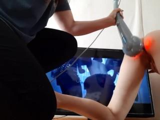 Выебала её в жопу перед телевизором вибрирующим массажёром – lesbian_illusion