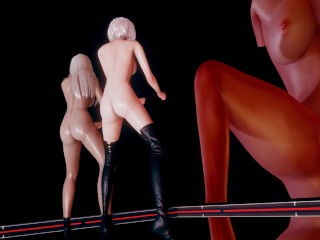 MMD Kara – Mister StripVers. 2B A2 NierAutomata 3-D Erotic Dance