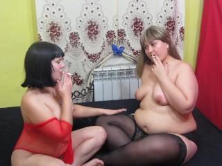 Smoking girlfriends lesbians