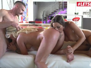 ScamAngels – Abigail Mac And Madelyn Monroe American Sluts Threesome With Married Guy – LETSDOEIT