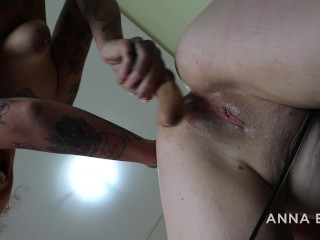 TATTOOED LATINA FUCKING HARD RUSSIAN GIRL with a large dildo – with ANNA BLUE and NINA FORBIDDEN