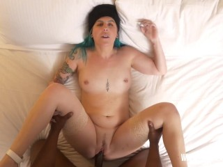 Tomboy hottie Nikki Zee takes a large dick after a very long time